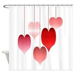 Hangin' Hearts Shower Curtain