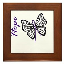 Hope Butterfly Framed Tile