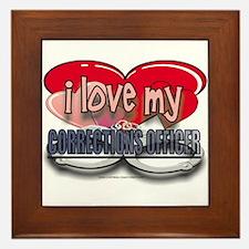 I LOVE MY CORRECTIONS OFFICER Framed Tile