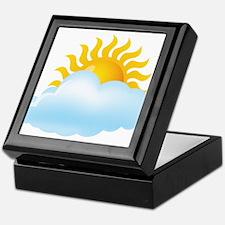 Cloudy - Storm - Weather - Sunny Keepsake Box