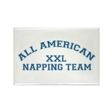 AA Napping Team Rectangle Magnet