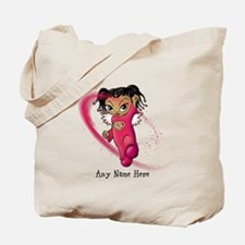 African American Angel Tote Bag