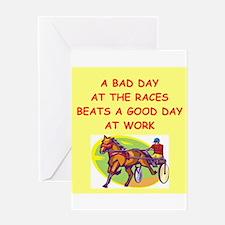 harness racing Greeting Card
