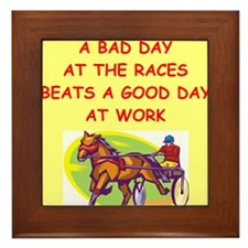 harness racing Framed Tile