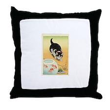 Japanese Cats Throw Pillow