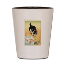 Japanese Cats Shot Glass
