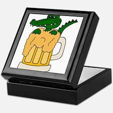 Alligator in Beer Mug Keepsake Box