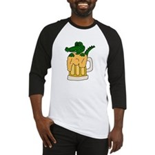 Alligator in Beer Mug Baseball Jersey