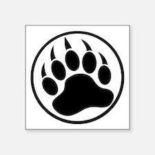 Classic black bear claw inside a black ring. Stick
