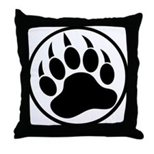 Classic black bear claw inside a black ring. Throw
