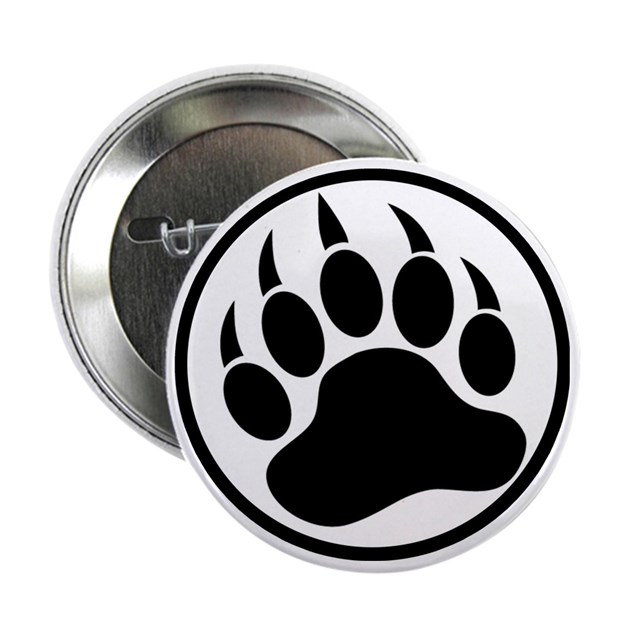 Classic Black Bear Claw Inside A Black Ring 2 25 Quot By