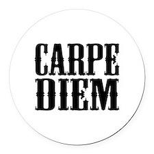 Carpe Diem Round Car Magnet