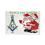Masonic Peace on Earth Rectangle Magnet