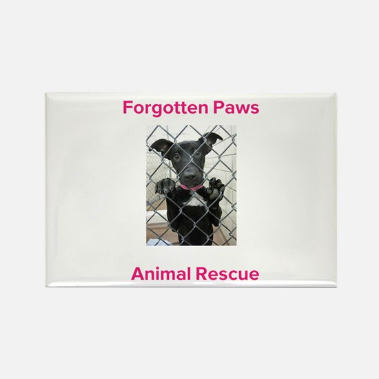 Forgotten Paws Animal rescue Rectangle Magnet