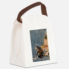 Self-portrait_of_the_shunga_album Canvas Lunch Bag