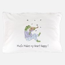 Personalized Music Frog Pillow Case