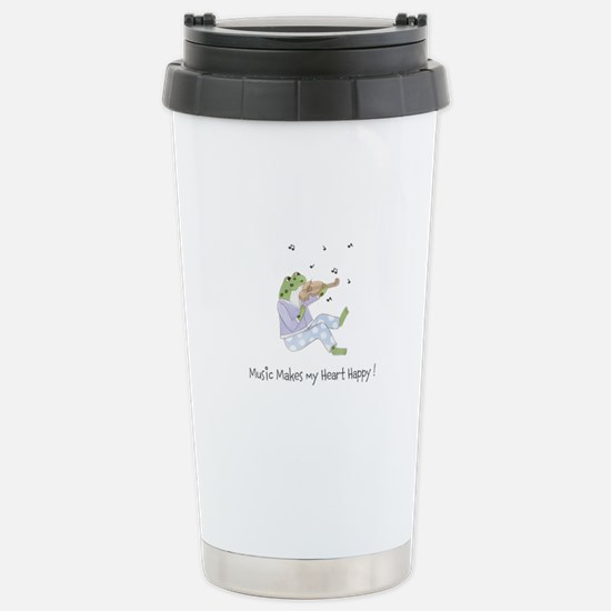 Personalized Music Frog Stainless Steel Travel Mug