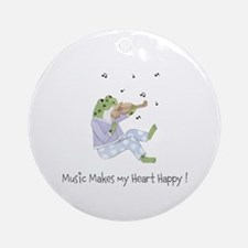 Personalized Music Frog Ornament (Round)