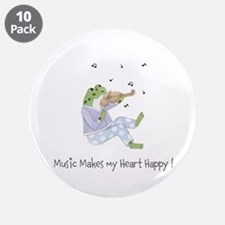 """Personalized Music Frog 3.5"""" Button (10 pack)"""