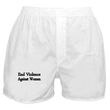 END VIOLENCE AGAINST WOMEN Boxer Shorts