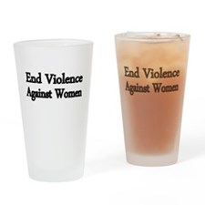 END VIOLENCE AGAINST WOMEN Drinking Glass
