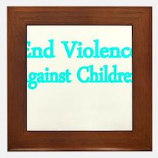 END VIOLENCE AGAINST CHILDREN 2 Framed Tile
