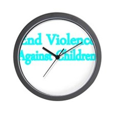 END VIOLENCE AGAINST CHILDREN 2 Wall Clock