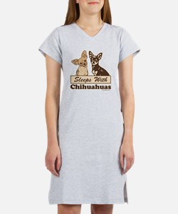 Sleeps With Chihuahuas Women's Nightshirt