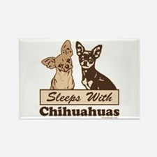 Sleeps With Chihuahuas Rectangle Magnet (100 pack)