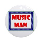 The music man Round Ornaments