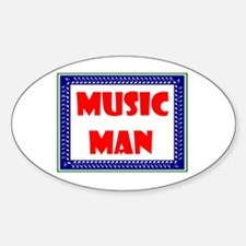MUSIC MAN Oval Decal