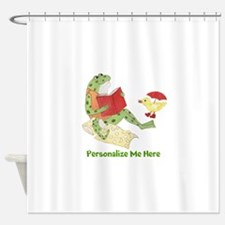 Personalized Frog Shower Curtain