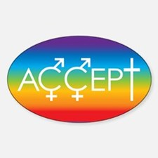 Equal Rights for all Oval Decal