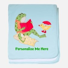 Personalized Frog baby blanket