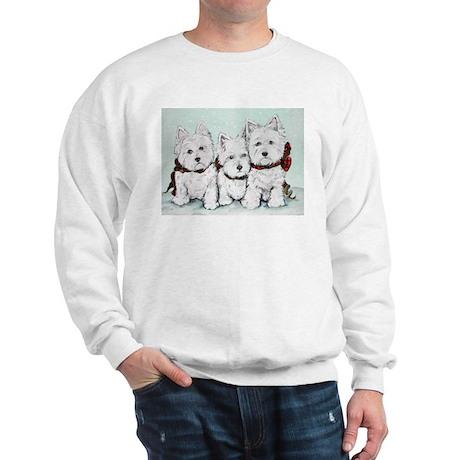 Westies in the Snow Sweatshirt