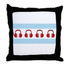 Chicago EDM Flag Throw Pillow