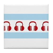 Chicago EDM Flag Tile Coaster