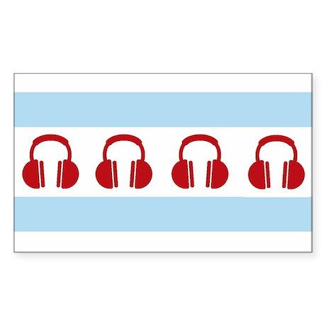 Chicago EDM Flag Sticker