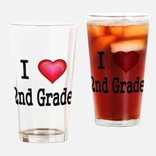 I LOVE 2ND GRADE Drinking Glass