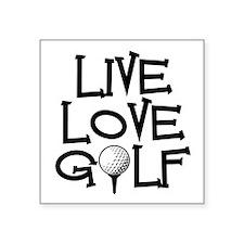 Live, Love, Golf Sticker