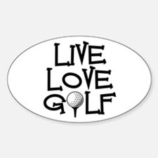 Live, Love, Golf Decal