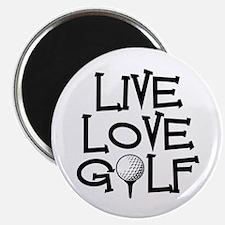 """Live, Love, Golf 2.25"""" Magnet (100 pack)"""