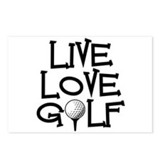 Live, Love, Golf Postcards (Package of 8)