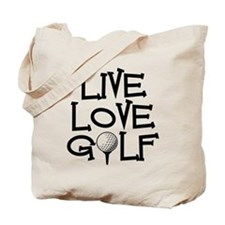 Live, Love, Golf Tote Bag