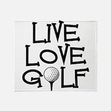 Live, Love, Golf Throw Blanket