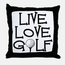 Live, Love, Golf Throw Pillow