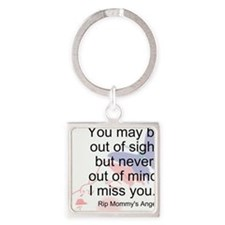 Never Out Of Mind Square Keychain