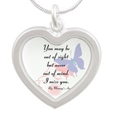 Never Out Of Mind Silver Heart Necklace