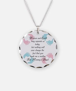 You Made Me A Mother Necklace Circle Charm