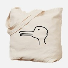 Rabbit Duck Optical Ilusion Tote Bag